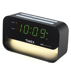 $18.84Timex T128BQX6 Dual Alarm Clock with USB Charging and Night Light - Black