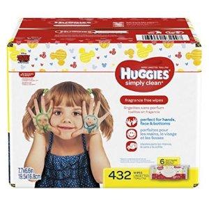 CDN$7HUGGIES Simply无香型宝宝湿巾,216张