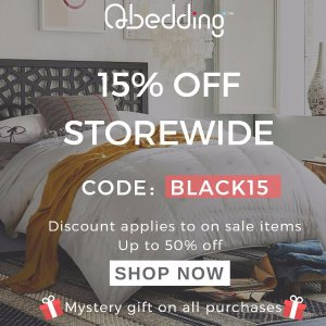 Last Day: 15% Off StorewideBlack Friday Sale @ Qbedding