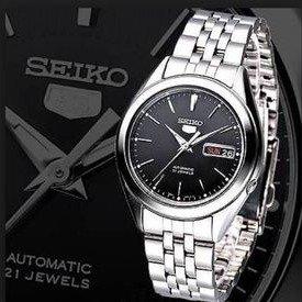 $64.02(原价$145)Seiko SNKK71 不锈钢自动机械男表
