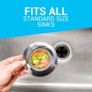 """$4 Kitchen Sink Strainer (2-pack) - 4.5"""" Diameter, Wide Rim Perfect for Most Sink Drains, Anti-Clogging Micro-Perforation 2mm Holes, Rust Free, Dishwasher Safe"""