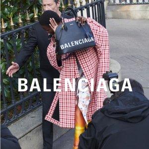 9折 满额包邮 明星爱牌 卫衣上新Balenciaga 机车包、三角包等美包美鞋等服饰