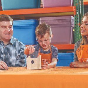 Build a Window BirdhouseKids Workshop @ Home Depot