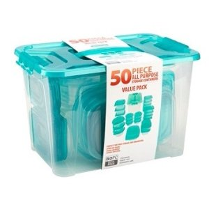 超低价$5(原价$19.99)Bradshaw 多用途食物储存盒50件套