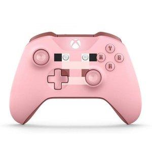 $54.99 (原价$74.99)女生专属:Xbox One S 无线手柄 我的世界小猪配色