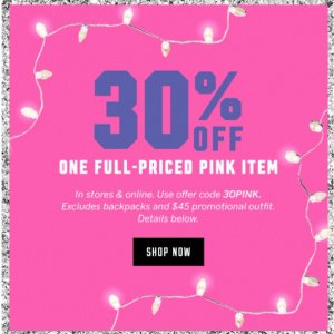 30% OffPink Full Price Items
