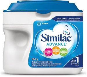 $27.54包邮(原价$32.99)Similac Advance 雅培非转基因1段婴儿配方奶粉