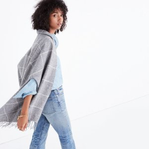 $38Micro-Check Cape Scarf @ Madewell