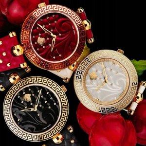 $395 (原价$1595)JomaShop 精选 Versace Vanitas 系列时装女表促销 5种色款