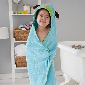 $20Skip Hop Zoo 宝宝连帽浴巾+ 搓澡巾 小狗造型