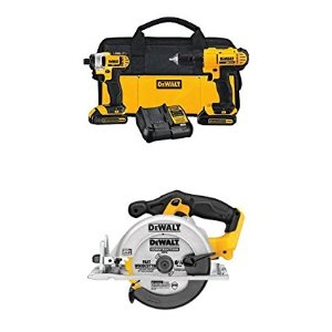 Today Only: $199.99DEWALT DCK240C2 20v Lithium Drill Driver/Impact Combo Kit (1.3Ah) with 20V MAX Circular Saw