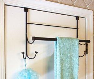 $7 Bathsense Over the Door Towel Rack with 4 Hooks, Oil Rubbed Bronze