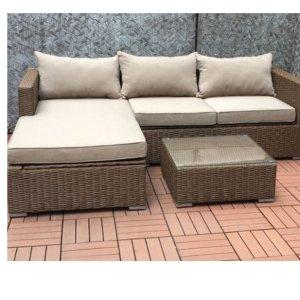 $649.99(原价$1259.1)限今天:Patioflare PF-CS290PS-BR 庭院沙发+茶几套装