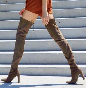 $336(原价$798) 百搭经典款Stuart Weitzman 女式深棕色麂皮Highland过膝靴