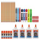$8 School Supply Kit: Sharpie Highlighters, Paper Mate Pens, EXPO Dry Erase, Elmer's Glue & More, 31 Count