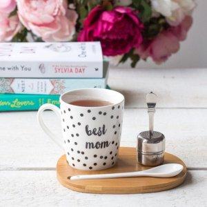 $9(原价$24.5)Indigo 茶具套装(茶杯、茶叶过滤器、搅拌勺和托盘)
