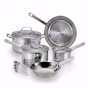 $59T-fal® Performance 12-Pc. Stainless Steel Cookware Set