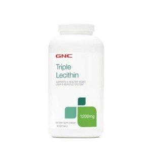 $11.99GNC 三倍卵磷脂 1200 MG 180粒 血管的清道夫