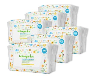 $13Babyganics Face, Hand & Baby Wipes, Fragrance Free, 600 Count