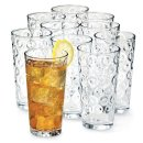 $9.97 Living Quarters Windowpane Set of 10 All-Purpose Cooler Glasses
