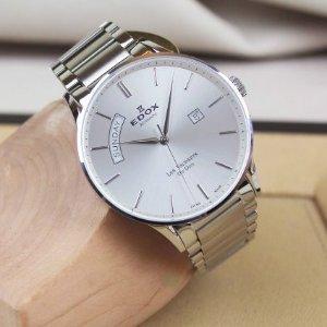 $359Edox Men's Les Vauberts Day Date Automatic Watch Model: 83011-3B-AIN