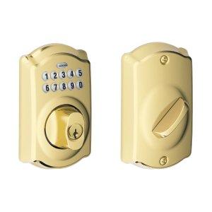$79.99(原价$141.08)史低价:Schlage BE365 CAM 密码自动门锁