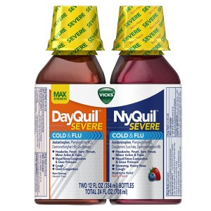 $11.97Vicks NyQuil and DayQuil 感冒液体糖浆 12盎司 2瓶