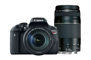 $499Canon EOS Rebel T6i w/ EF-S 18-55mm and 75-300 III Lens Refurbidshed