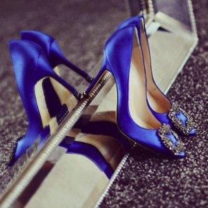直减$125 入经典通勤BBManolo Blahnik女士平底鞋,高跟鞋,穆勒鞋 超美钻扣怎么错过