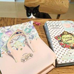 $16.4/RMB110 直邮中美创意杂志附录 franche lippée 少女粉托特包&猫咪内衬袋 热卖
