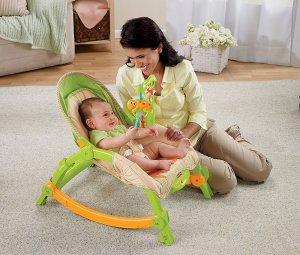 $60.90哄睡神器:Fisher-Price 便携式多功能摇椅
