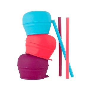 $6Boon Snug Straw 3Pk Pink/Purple/Blue
