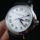 $295RAYMOND WEIL  Tradition White Dial Stainless Steel Black Leather Men's Watch 5578-STC-00300