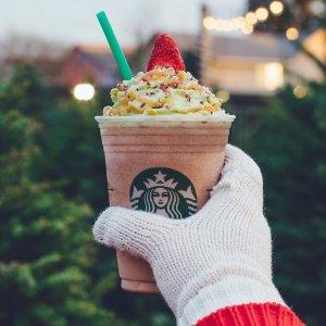 只供应5天(12月7-11日)最后一天:Starbucks 星巴克 节日特饮Christmas Tree Frappuccino上市